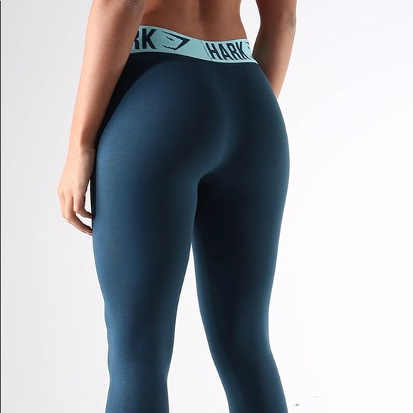 18d2d27a8af03 Gymshark Pants - Gymshark Fit Legging - Lagoon Blue/Mint Green